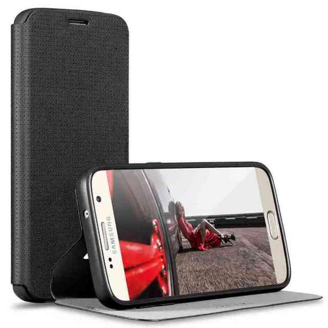X-nível de respiração telefone case para samsung galaxy s6 s7 edge plus nota 5 4 pu leather case s6edge plus s7edge note5 aleta cobrir