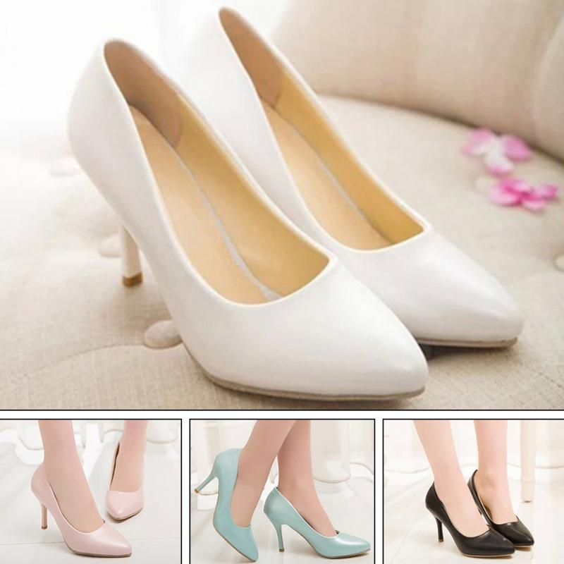 Elegant Noble Women High Heels Shoes Work Shoes Perfect Office Shoes Plus Size women linen half sleeve blaser 2017 new elegant casual candy color single button plus size work blazer office jacket pink white
