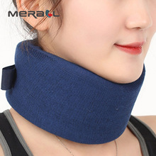 Neck Brace Support Cervical Traction Collar Cotton Breathable Office Car Travel Soft Pillow Pain Relief Adjustable Health Care pop relax koea health care natural jade stone pillow cervical waist traction body pain relief physical therapy neck relax pillow