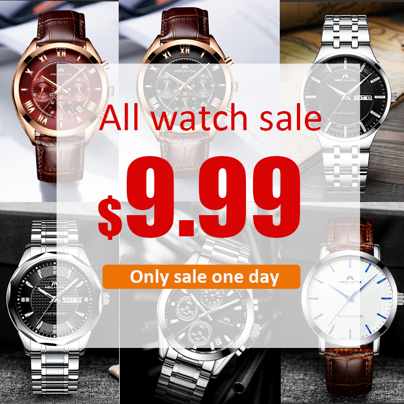 BIG SALE, ALL WATCHES SALE 9.99$ MEGALITH Mens Watches Top Brand Luxury Watch For MenBIG SALE, ALL WATCHES SALE 9.99$ MEGALITH Mens Watches Top Brand Luxury Watch For Men