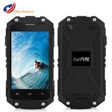 """IMAN X2 1G + 8 GB 2.45 """"Android 5.1 Étanche IP65 Mobile Téléphone Double Sim Quad Core Téléphone GPS Wifi 3G WCDMA OTG Super Mini Poche"""