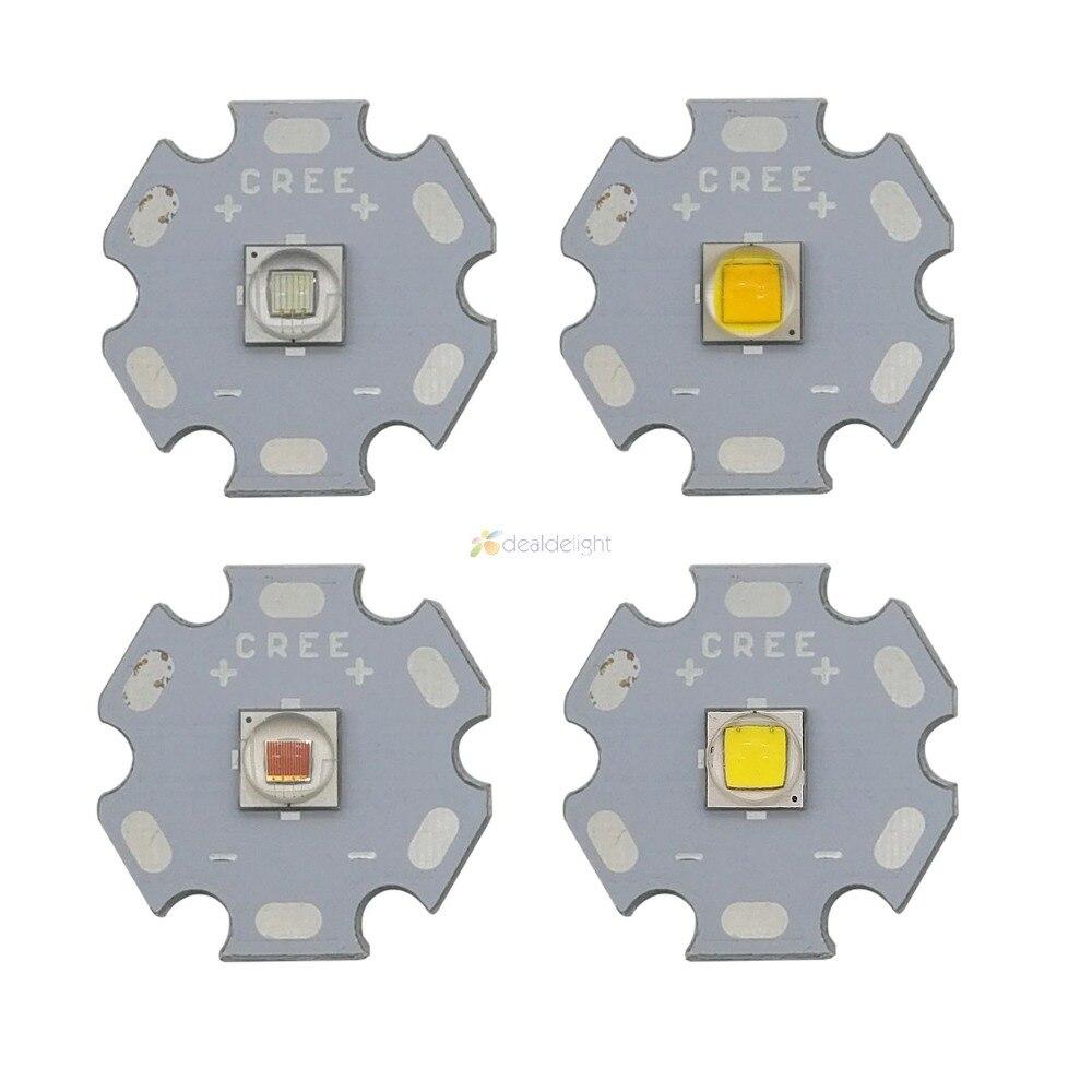 1PCS CREE XML2 LED XM-L2 T6 U2 5050 10W White Neutral Warm White Flashlight chip bulb Red Green Blue UV High Power LED Emitter