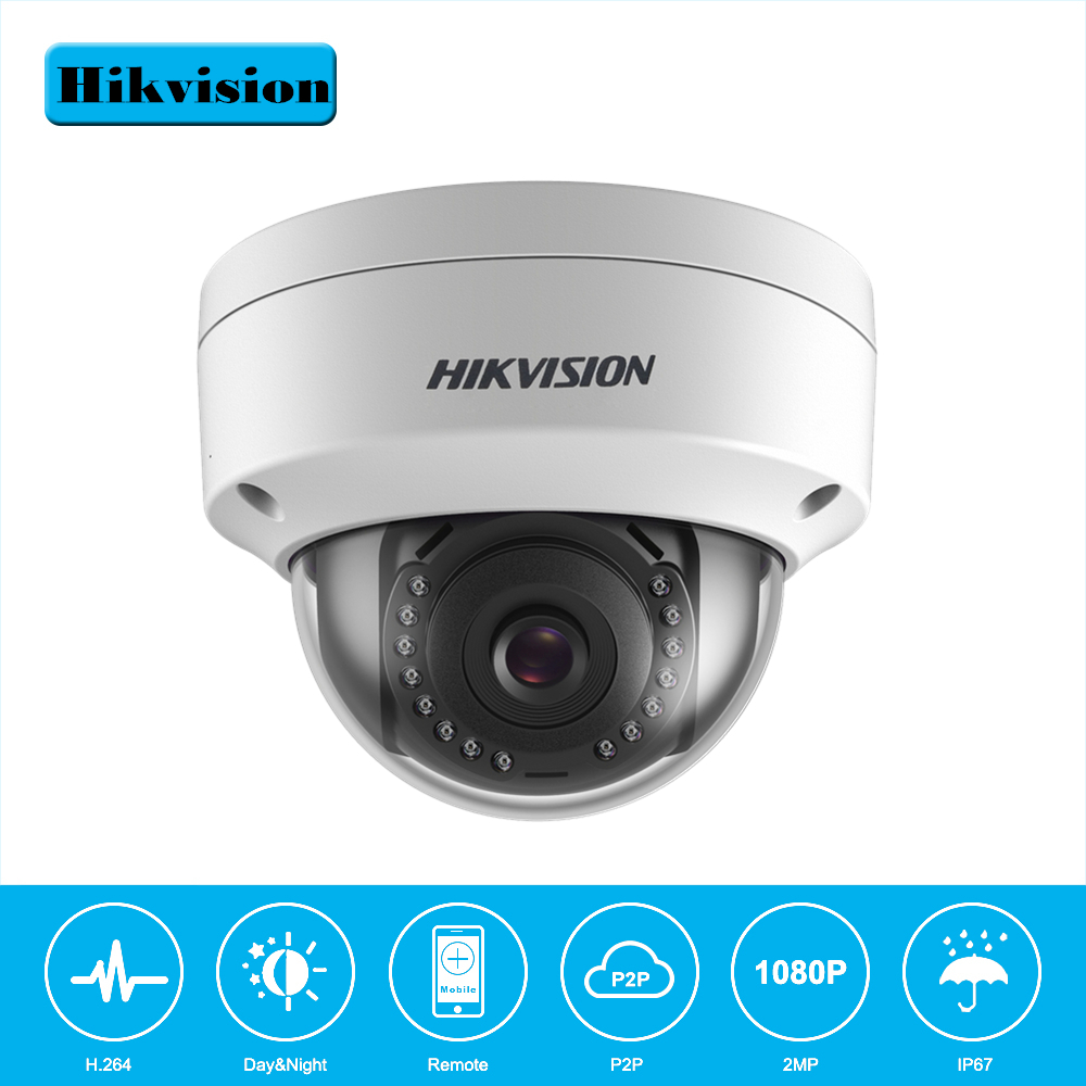 Hikvision Security Dome Camera DS-2CD1121-I 2MP CMOS PoE IP Camera outdoor DS-2CD1121-I with DWDR IP 67 No SD card Slot hikvision ds 2cd3955fwd iws 5mp fisheye camera 360 view ip camera support wifi sd card poe ir replace ds 2cd3942f i