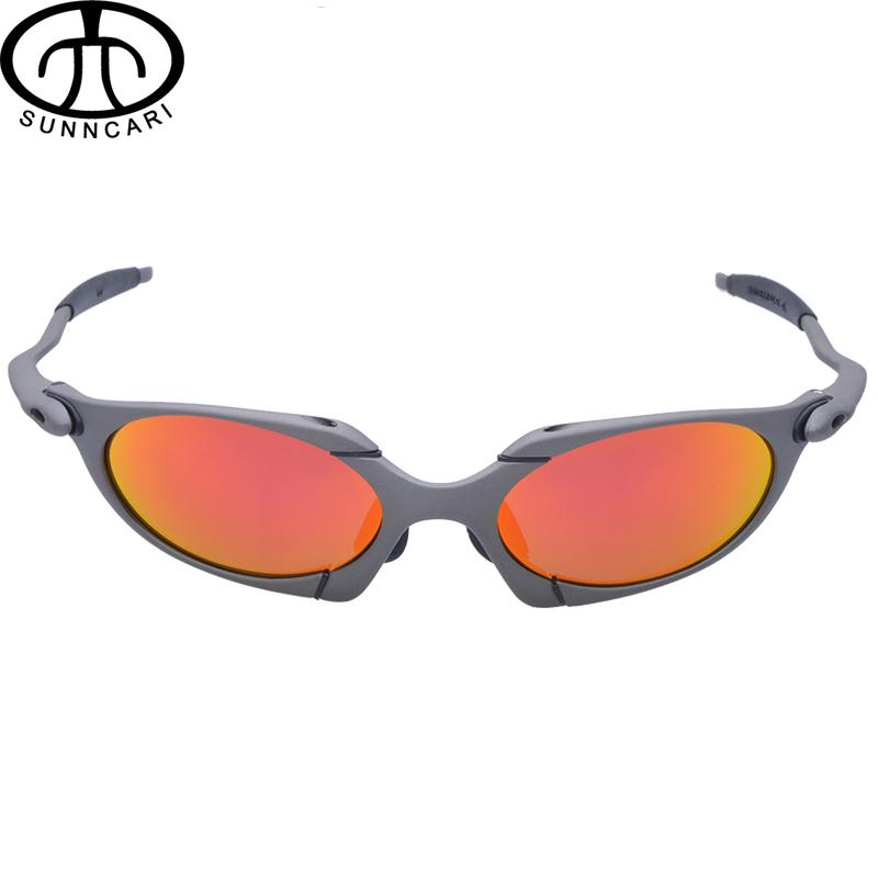 Цена за SUNNCARI Солнцезащитные Очки Мужчины Поляризованных Велоспорт Очки Сплава Кадр Спорт Езда Очки óculos де ciclismo gafas CP002 3