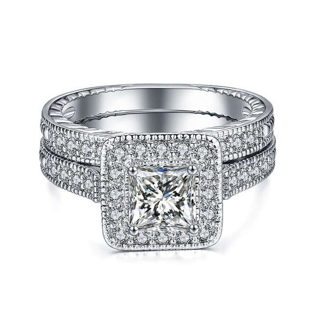 76816853fee2 European 925 silver Beautiful high-end double RING Female Crystal from  Swarovski Simple Temperament fashion jewelry