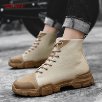 Work Safety Boots Men Puncture Proof Boots Winter Male Martin Men Shoes Ankle Boots Outdoor Casual Men Shoes Zapatos De Hombre