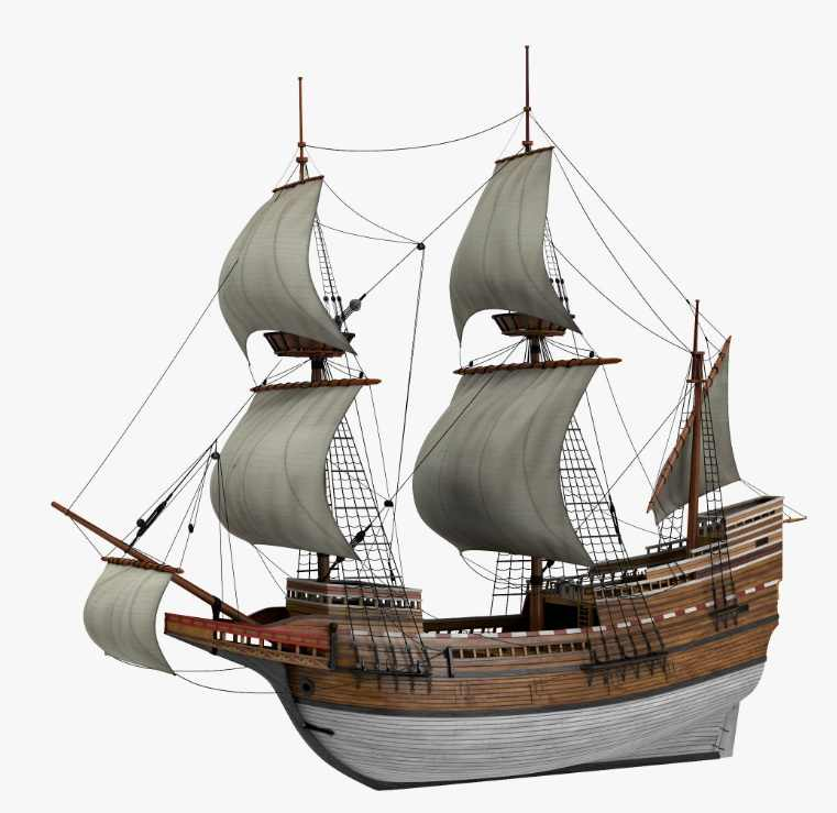NIDALE Model Scale 1/96 Classic wooden ship model kit the May flower 1620 wooden sail boat SC MODEL