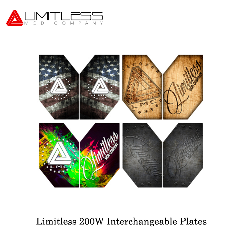 E-Cigarette Electronique Limitless 200W Replacement Plates Interchangeable For LMC Limitless 200W/220W Box Mod