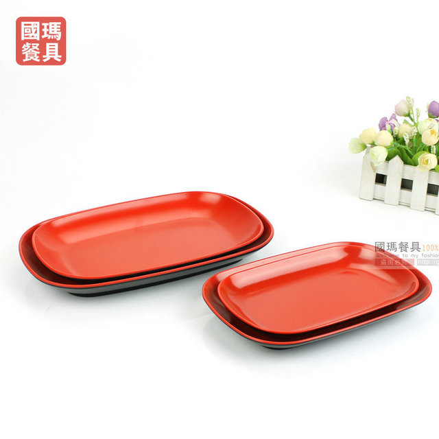 7.5INCH Japanese Style Plastic Fish Dish Melamine Serving Tray Dried Fruit Plate Storage Dishes Square  sc 1 st  AliExpress.com & 7.5INCH Japanese Style Plastic Fish Dish Melamine Serving Tray Dried ...