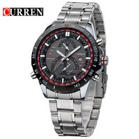 Hot CURREN Watches Men Luxury Brand Clock Reloj Relogio Masculino Military Quartz Watch Full Stainless Steel