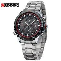 Hot CURREN Watches Men Luxury Brand Clock Reloj Relogio Masculino Military Quartz Watch Full Stainless Steel