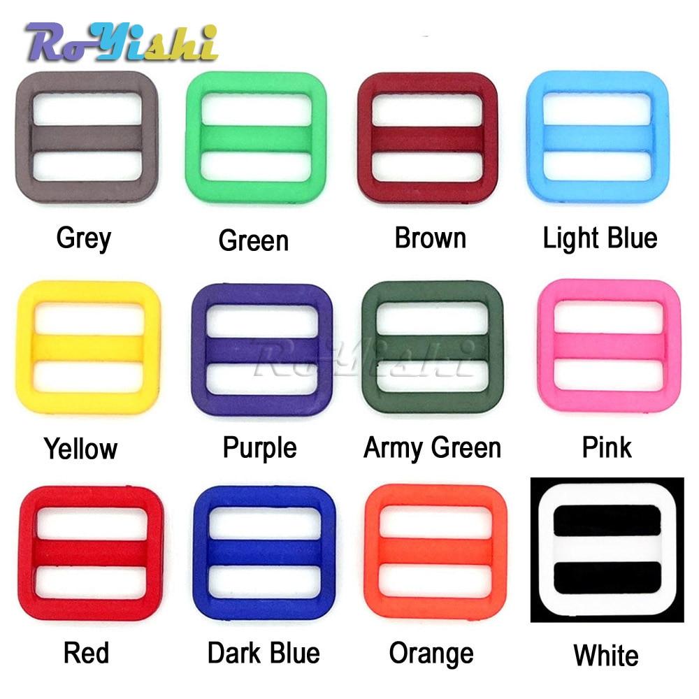 1000pcs pack 3 4 20mm Colorful Triglides Adjust Buckle For Dog Collar Harness Backpack Strap