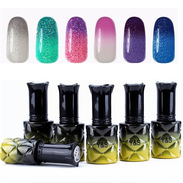 Y S 8ml Temperature Chameleon Nail Gel Polish Thermal Color Change Uv Soak Off