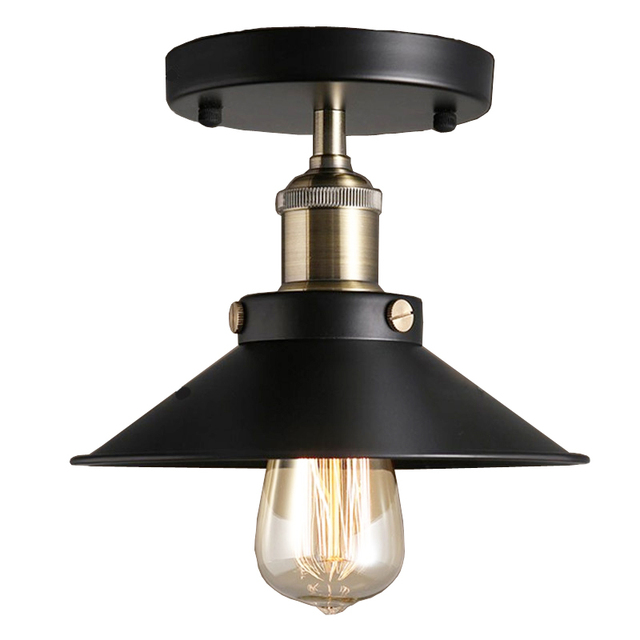 Vintage  Creative Industrial Wind E27 Ceiling Lights Iron Black Ceiling Lamp De Techo Home Lighting for Kitchen Fixtures