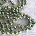 "Miss charm Jew.383 50"" 5-6mm Dark Green Baroque Freshwater Pearl Necklace (A0511)"