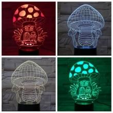 Mushroom House Led Night Light USB Touch Sensor RBG Novelty Lighting Child Kids Baby Gift Gadget Table 3D Lamp Dropshipping