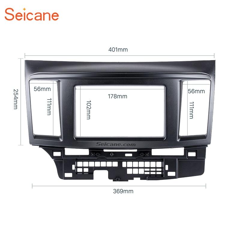 Seicane Black 2Din Car Radio Fascia Auto Stereo Dashboard Frame Installation Trim Kit Panel For 2010