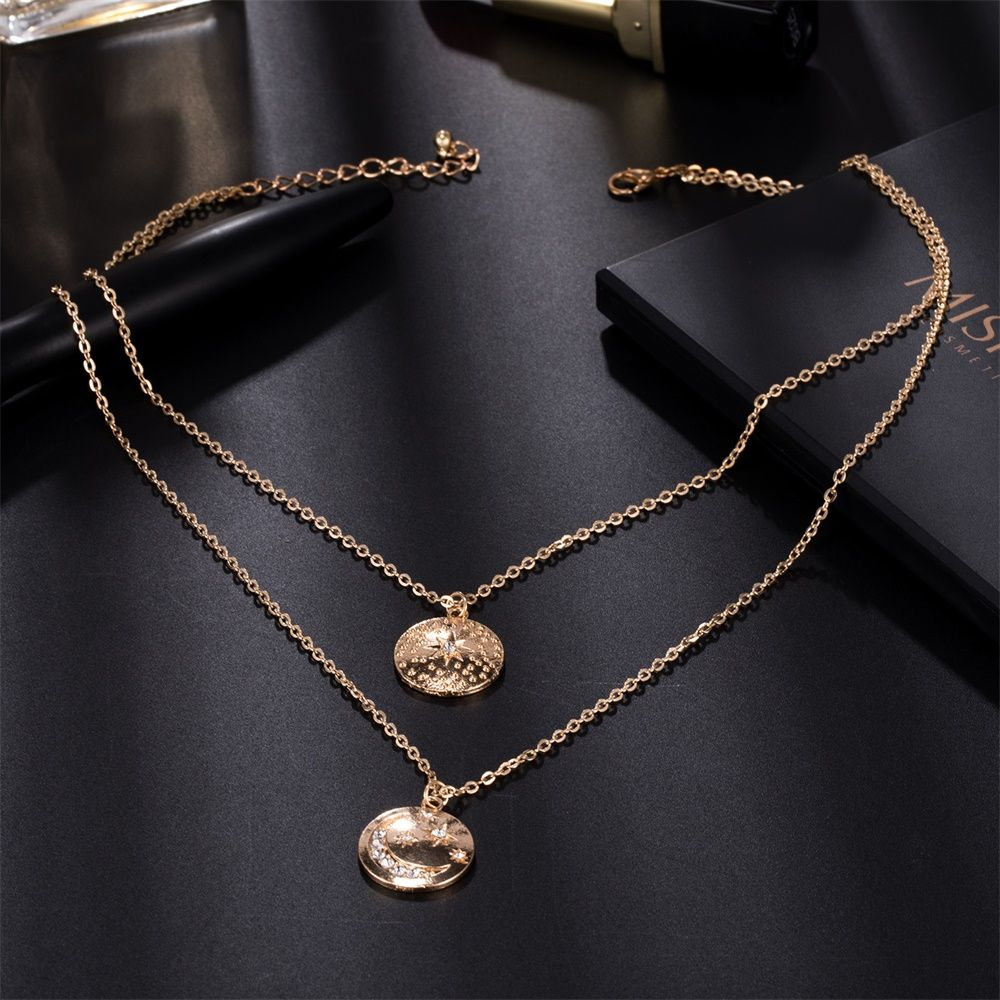 1pcs Multilayer Scorpio Constellation Necklace Crystal Rhinestone Chain Pendant