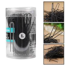 100pcs Women Hair Pins Corrugated Stainless Steel U Shaped H