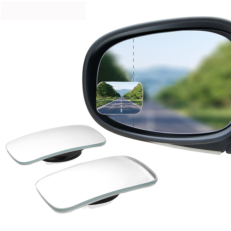 2Pcs Car Wide Angle Rear View Mirror 360 Degree Rotation Auto Rearview Auxiliary Parking HD Frameless Blind Spot Mirrors(China)