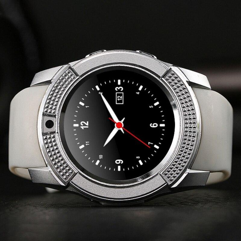 imágenes para Bluetooth Reloj Inteligente Reloj V8 Con Tarjeta SIM TF Notificador Sync Smartwatch Para Android IOS Reloj Redondo