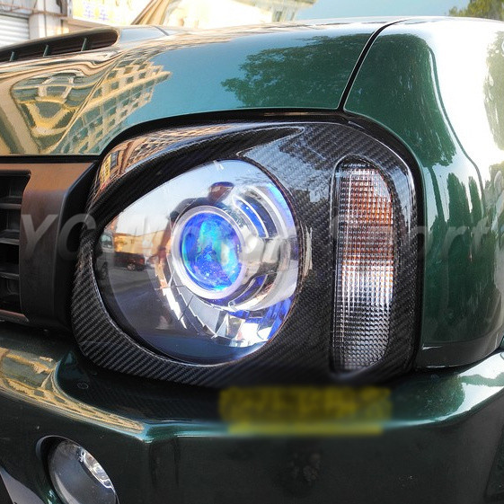 Автомобиль Интимные аксессуары углерода Волокно AB Стиль глаз крышкой 2 шт. подходит для Suzuki Jimny Спорт век автомобилей Стикеры