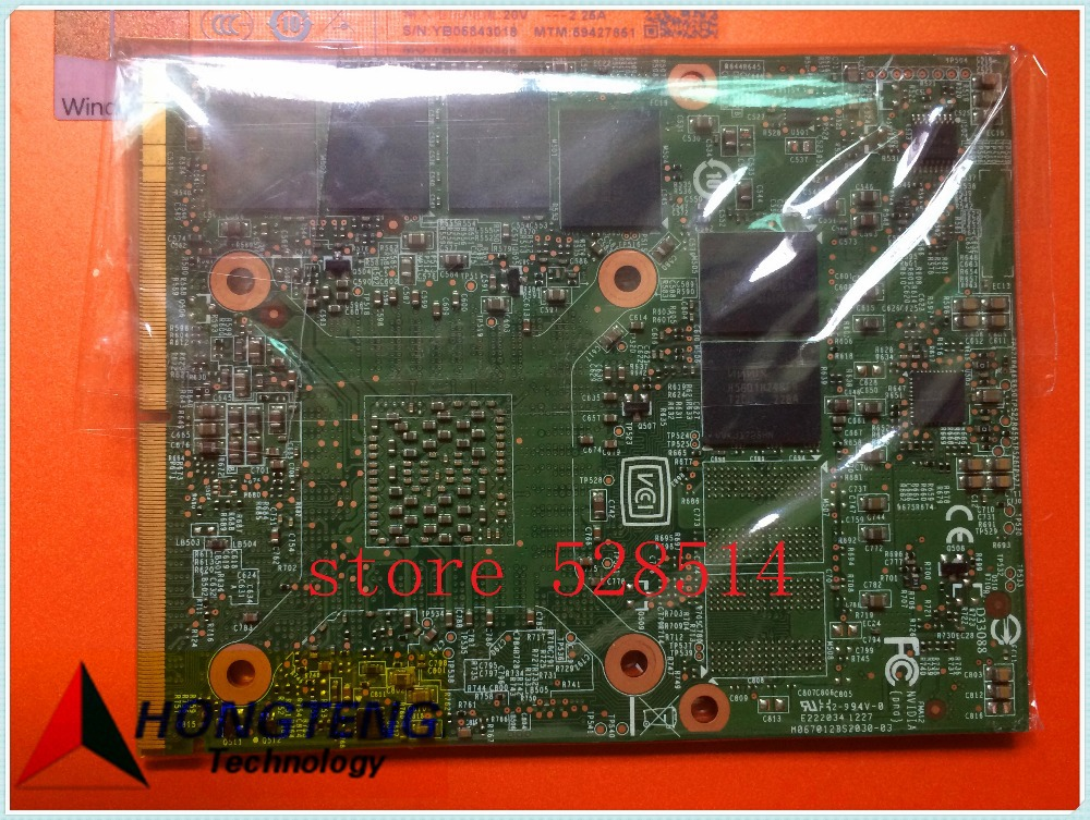 FOR MSI GT70 1762 Graphics Nvidia Video Card MS-1W091 Ver 1.1 11W091 ms1w091 N13F-GR-A2 fully tested