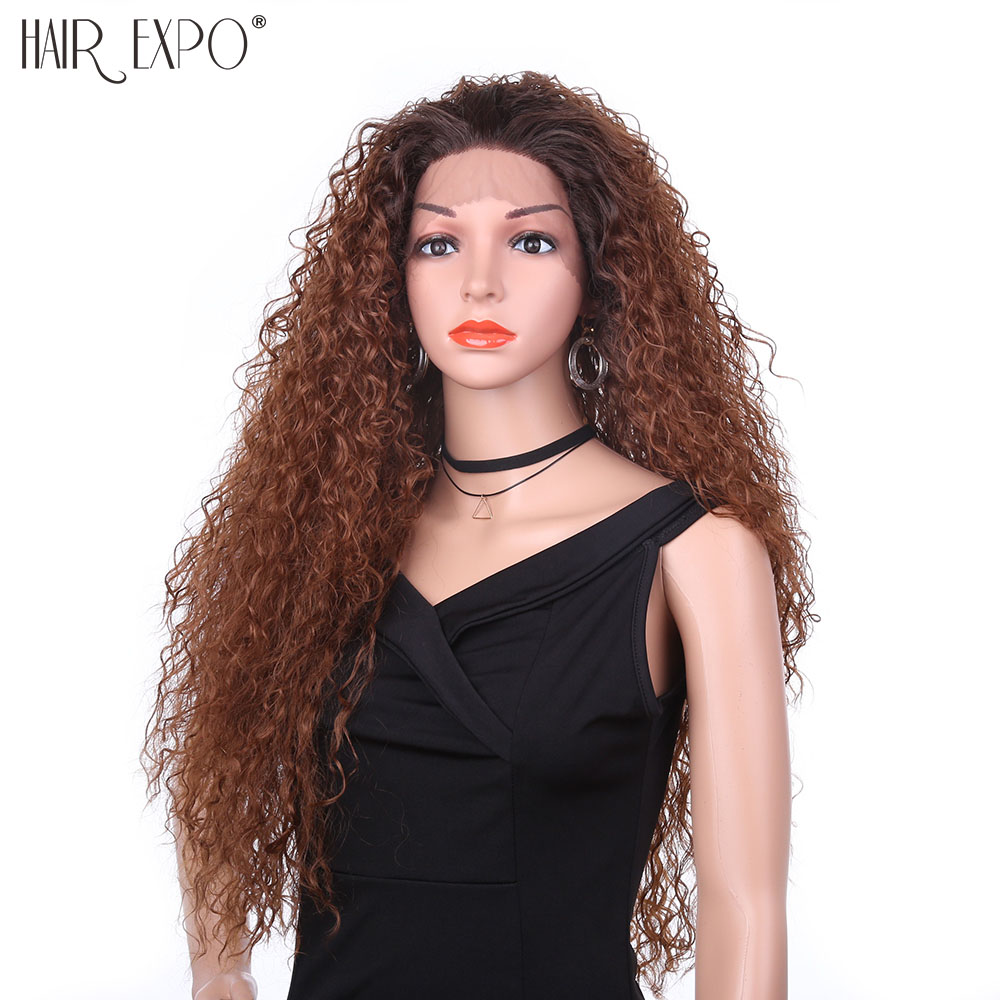 22inch Afro Kinky Curly Wig Heat Resistant Lace Wig Short Black Hair Wigs Kinky Wigs for Black Women Hair Expo City