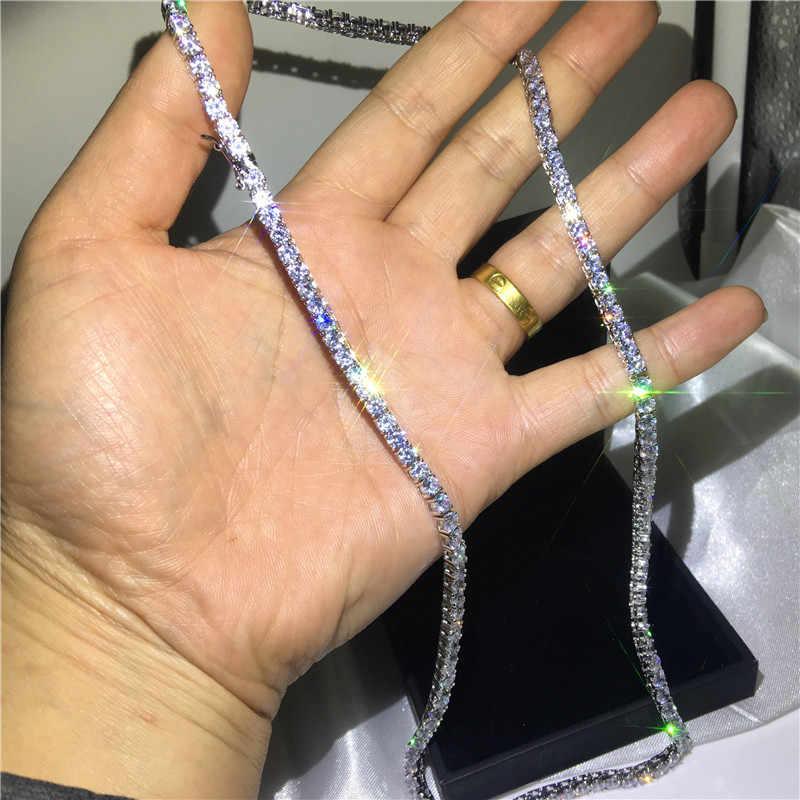Choucong 11 видов стилей роскошное теннисное ожерелье AAAAA Cz Белое Золотое заполненное ожерелье для вечеринки для женщин свадебный аксессуар ювелирные изделия