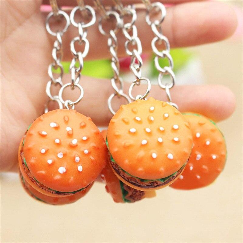 Hamburger Key Chain Fashion Simulation Food Hamburger Pendant Key Ring Novelty Key Chain Business Birthday Gift Jewelry K1712 Always Buy Good Jewelry & Accessories Jewelry Sets & More