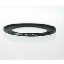 מקורי עלייה (בריטניה) 58mm 77mm 58 77mm 58 כדי 77 צעד עד טבעת מסנן מתאם שחור