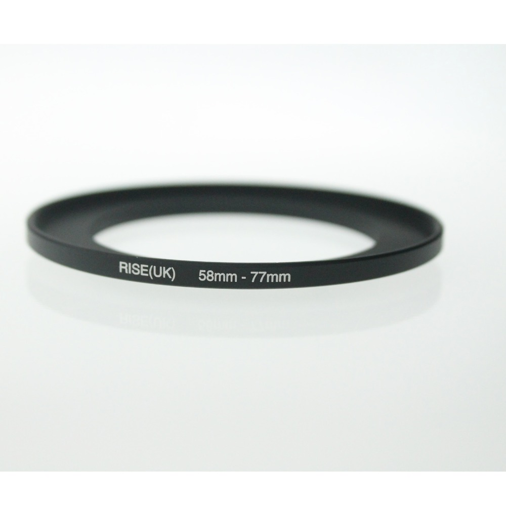 Original RISE(UK) 58mm-77mm 58-77mm 58 To 77 Step Up Ring Filter Adapter Black