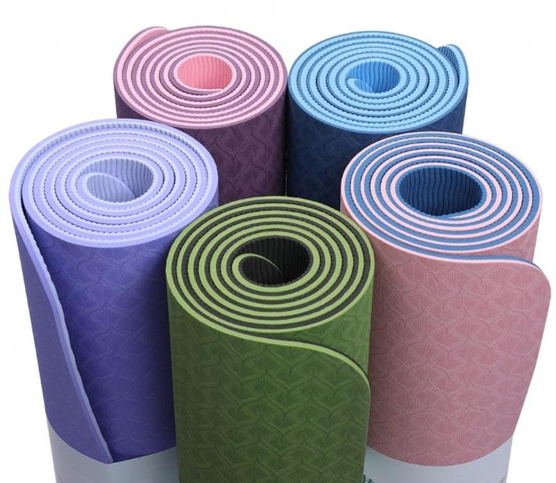 Double tapis de Yoga 6mm antidérapant tapis de Yoga 6mm tapis de Fitness Fitness Yoga tapis de Sport de haute qualité tapis de gymnastique avec coussin d'équilibre
