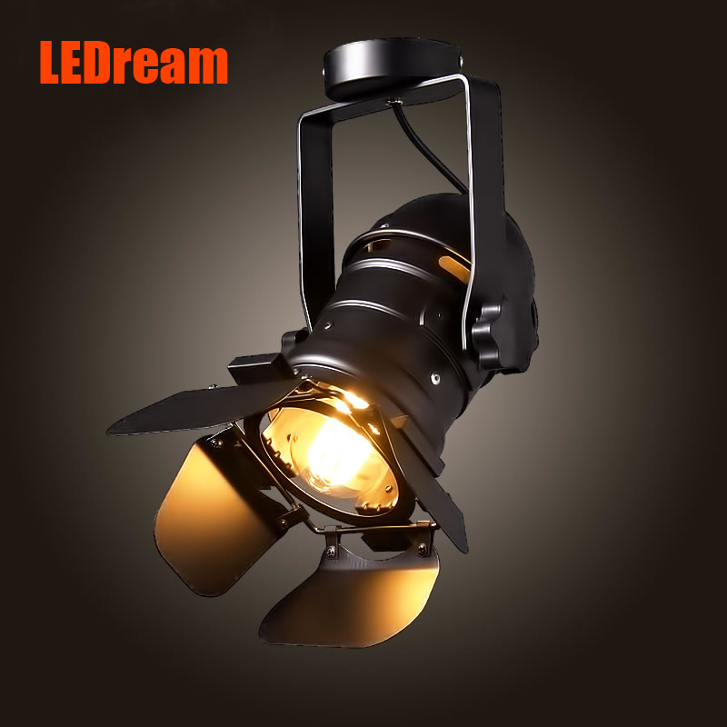 ФОТО LED track lamp retro LOFT industrial bar clothing creative personality scale American absorb dome light