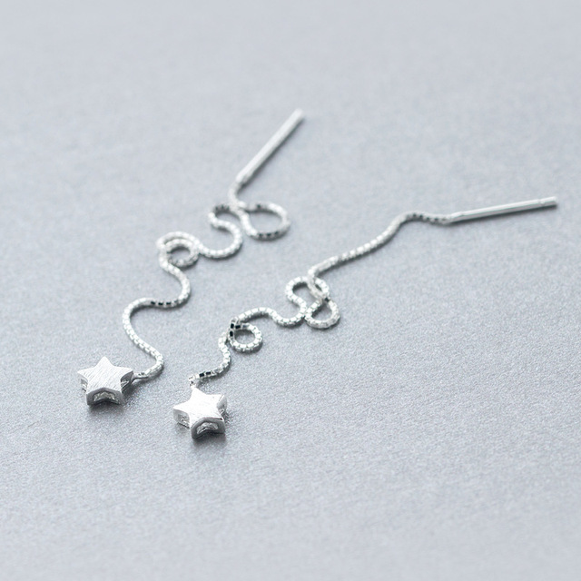 Aliexpress.com : Buy real. 925 Sterling Silver pull through Star ...