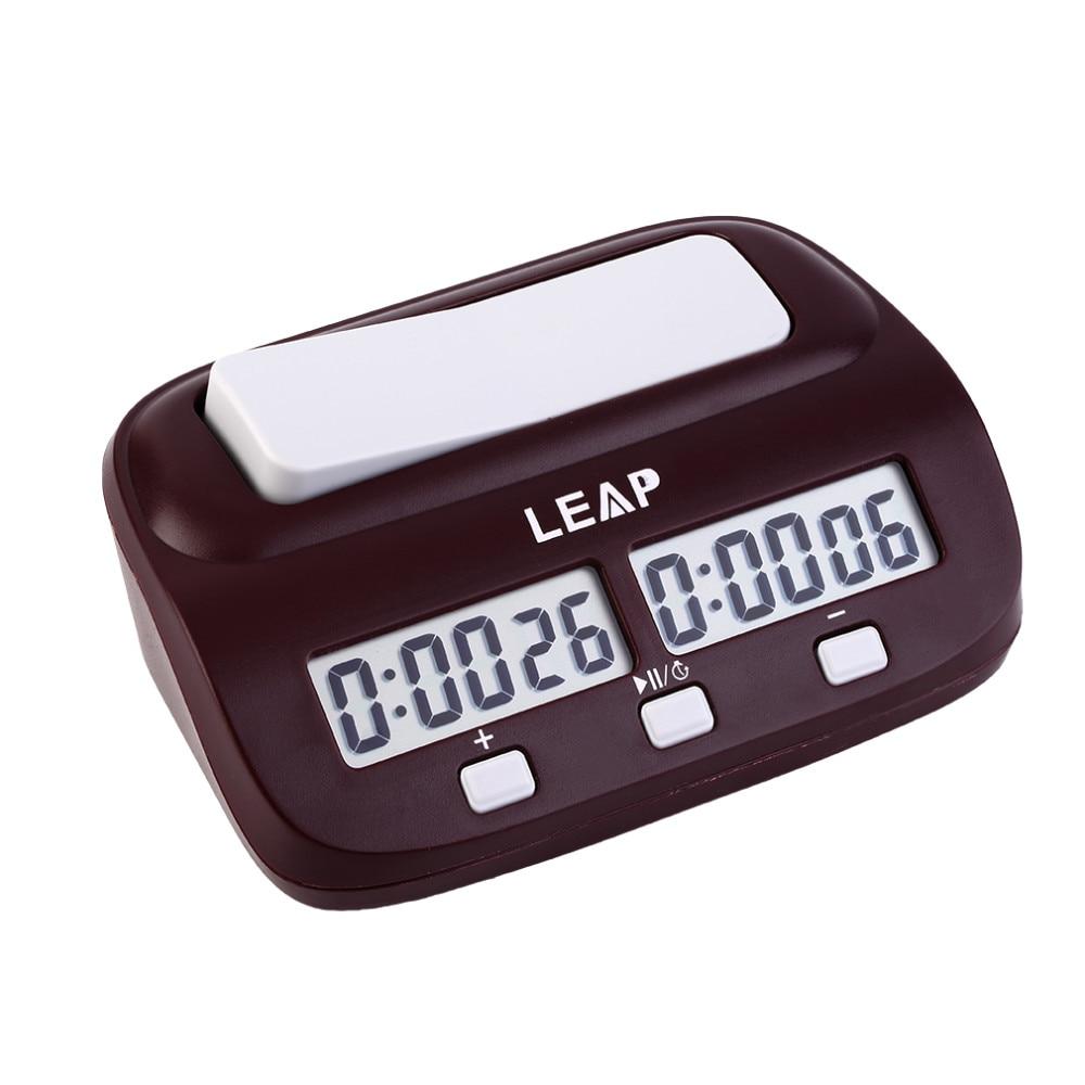 5652893f51b LEAP Professional Compact Digital Contagem Up Down Temporizador Relógio de  Xadrez Jogo De Tabuleiro Eletrônico Mestre Torneio Competição Bônus livre