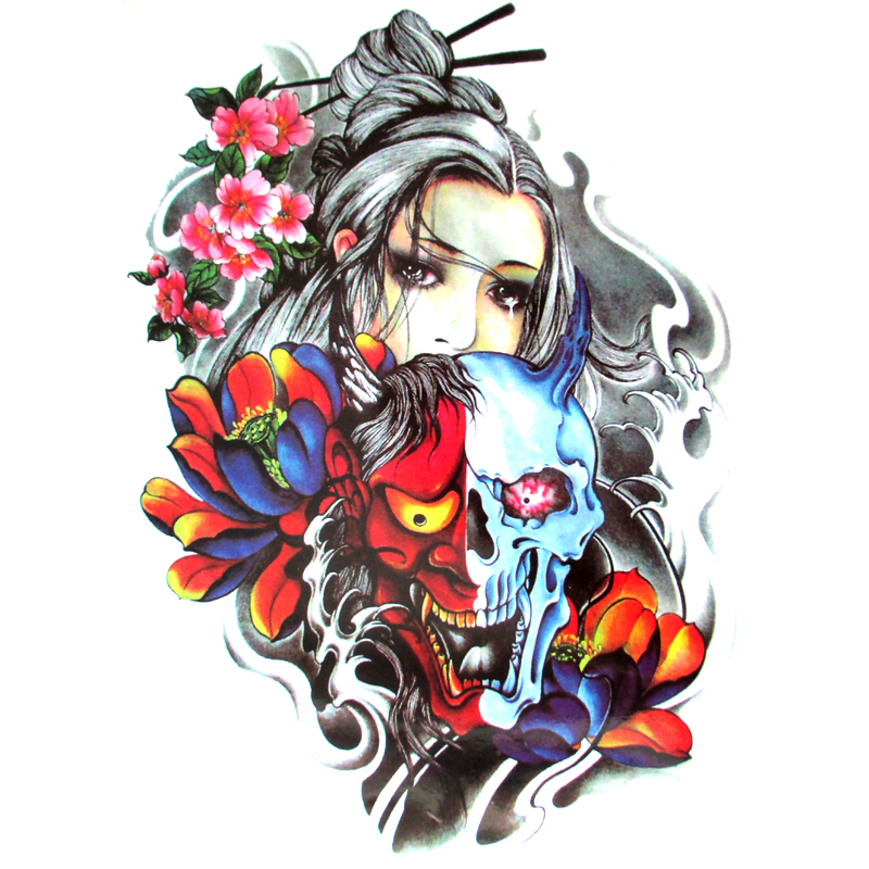 Online buy wholesale devil skull tattoos from china devil for Temporary tattoo sticker