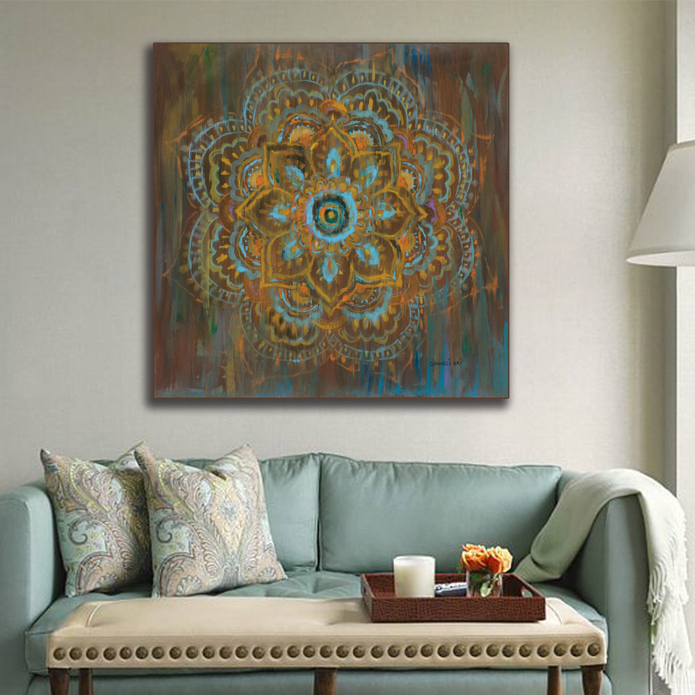 Zen Mandala in white distressed Canvas painting painting Home decor ...