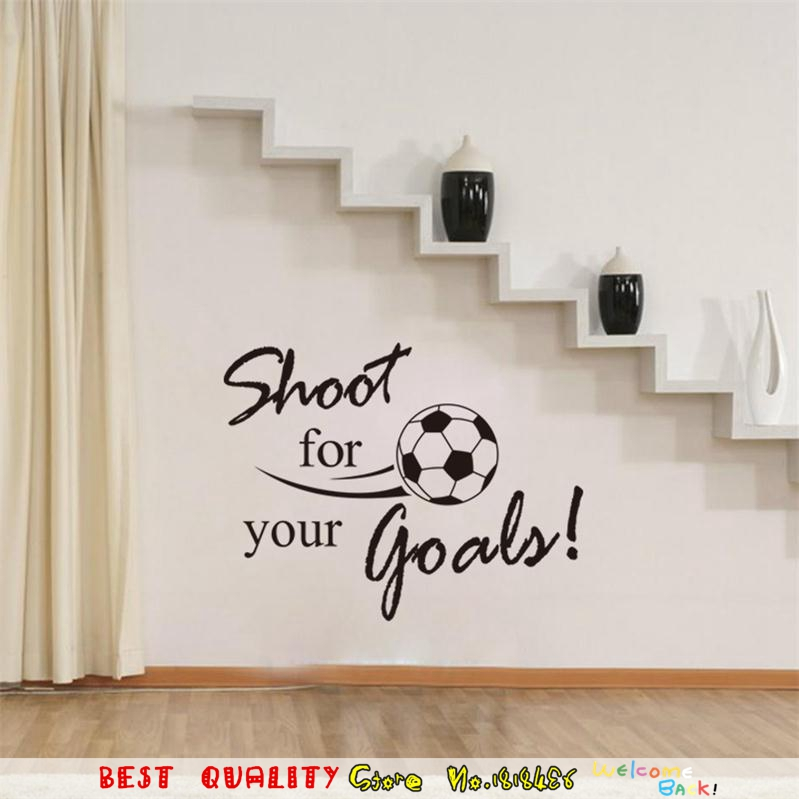 Words For The Wall Home Decor: Shoot For Your Goals Inspiration Quote Words Wall Stickers