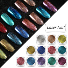 Mtssii Starry Nail Glitter Powder Holographic Laser Glitters
