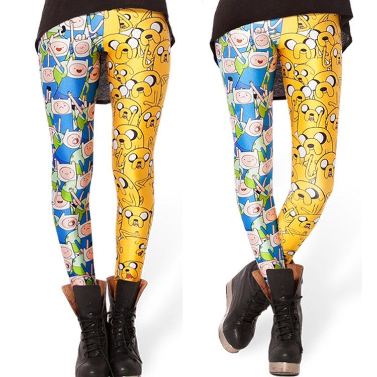 HOT Sexy Fashion Slim Leggins Galaxy Pants Digital Printing FINN AND JAKE LEGGINGS For Women