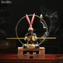 NOOLIM фиолетовый глина Обезьяна Король чай питомец кунг-фу чайный сервиз церемония Обезьяна Король обратного потока благовония горелки настольные украшения