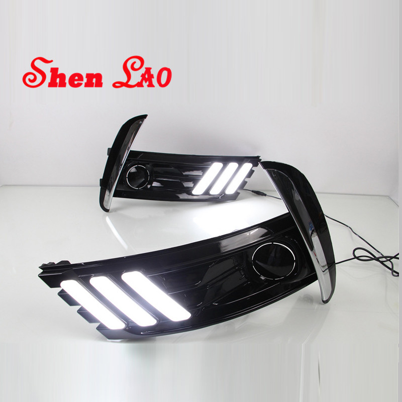 ShenLao LED Daytime Running Light For Toyota Corolla 2017 2018 Car Accessories Waterproof ABS 12V DRL Fog Lamp Decoration