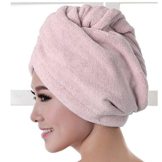 女性高品質髪タオルマイクロファイバードライヘアキャップクイック乾燥バスタオルソフトシャワー帽子女性の髪入浴ツール 25 × 60 センチメートル