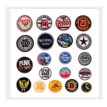 2017 New Cool Brand Badge Punk Fashion jeans Patches Iron On Or Sew Fabric Sticker For Clothes Badge Embroidered Appliques DIY