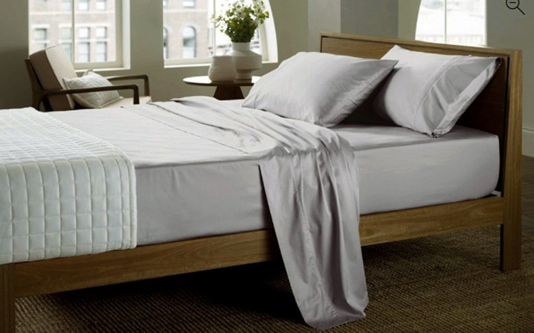 100 Egyptian Cotton 1000 TC Queen King super King size White Light Beige Silvery light blue