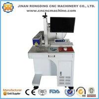 Hot sale desktop 20w fiber laser marking machine with Raycus power