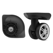 W015 # pojemnik na bagaże akcesoria uniwersalne koła hasła podróży akcesoria bagażowe naprawy wózek kołowe case wymiana naprawa tanie tanio Z tworzywa sztucznego B2453 0 35 Brave Fighter W015 mute wheel pair