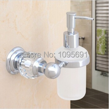 MAIDEER Luxury Brass+Crystal+Frosted glass chrome plating Soap ...