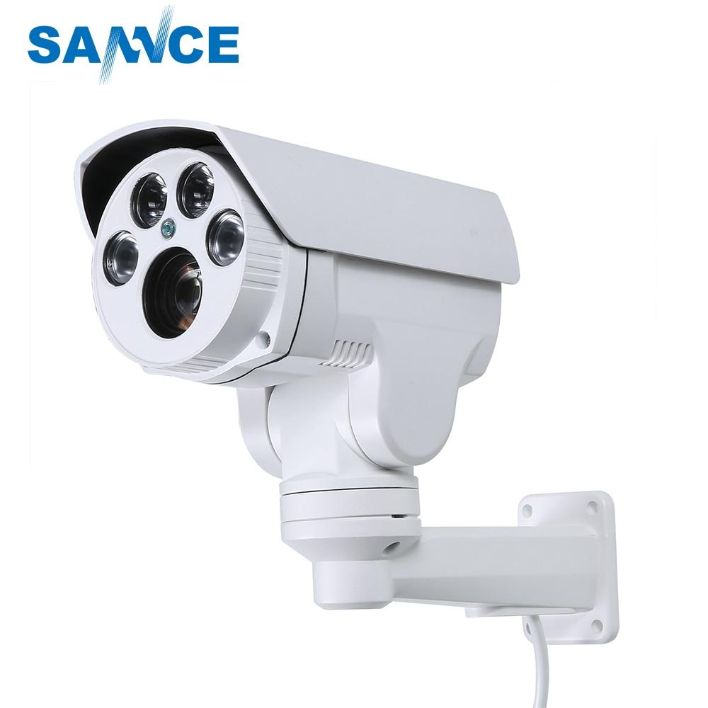 купить SANNCE AHD Full HD 1080P Camera 4in1 Autofocus Varifocal 2.8-12mm 4X Digital Zoom Pan/Tilt Bullet PTZ Camera IP66 In/outdoor по цене 6085 рублей